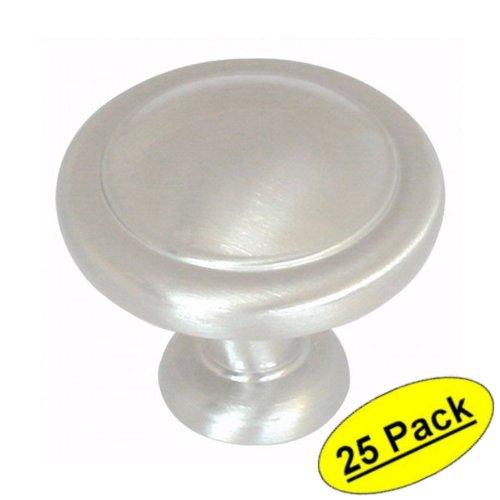Amerock bp1387-g10Satin Nickel Cabinet Hardware Round Ring-Knauf–1–1/10,2cm Durchmesser–25Pack (Nickel Cabinet Round Knob Satin)