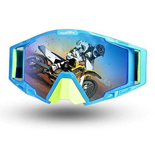 Fodsport Motorradbrille Crossed Brille Radbrille Schutzmaske für Motorrad Motocross Ski Sport verstellbar XL QM00017A3