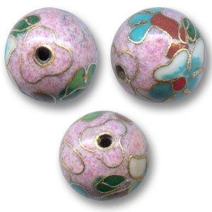 Ronde cloisonnée lisse 14 mm Vieux Rose