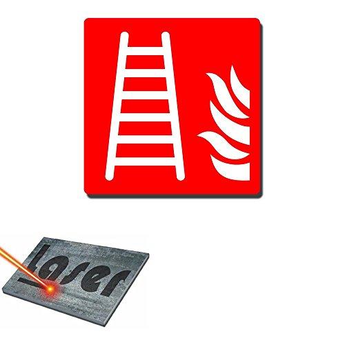 """Gravurplattte incl. Gravur, Selbstklebend, 15 x 15, """"Leiter der Interventionsstellen"""", rot"""