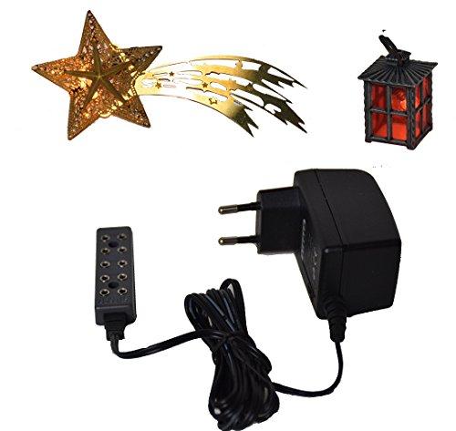 CV Laterne + Komet beleuchtet mit Trafo 230 V für Weihnachts-Krippe Krippen-Stall Krippen-Beleuchtung -