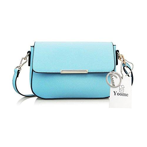 Borsa del messaggero modello retrò Yoome Elegant Flap Retrò per i sacchetti casual delle donne delle scuole per le ragazze - Blu dellacqua Acqua Blu