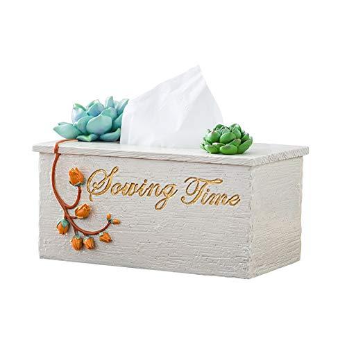 Naturharz Serviettenhalter Papier Handtuch Box schöne und einfache Kunst Ornamente Rollenhalter Fenster Nacht Büro Dekorationen Badezimmer Zubehör Tissue Box - Deckenventilatoren Hampton