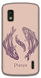 The Racoon Lean Pisces hard plastic printed back case / cover for LG Nexus 4