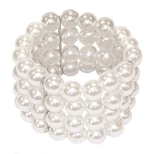 Labreeze Damen Mädchen Deluxe Perlenarmband gruppiert Perlenarmband Flapper-Kostüm