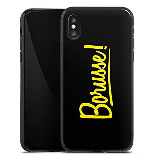 Apple iPhone 7 Silikon Hülle Case Schutzhülle Borusse Borussia Dortmund BVB Silikon Case schwarz