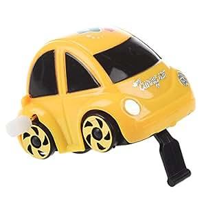 SODIAL(R) Jouet de voiture a ressort en plastique jaune pour les enfants