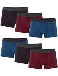 MioRalini 4 Calzoncillos para Hombres con Gran Apertura de piernas !! 100% Algodón con Operación de Corte Especial Tamaño 5-M a 16…