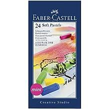 Faber-Castell 128224 - Estuche de cartón con 24 tizas, mini, multicolor