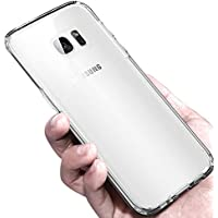 Coque Galaxy S7 Edge, Korostro Housse Crystal Clear Silicone Galaxy S7 Edge Coque Transparente Antichoc Protection Housse S7 Edge Souple TPU Bumper Case pour Samsung Galaxy S7 Edge Cover
