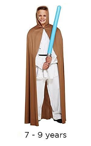 Kind Jedi Style Star Wars braun, Cape, Medium 7–9Jahre (Cape nur)