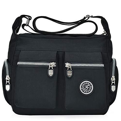 Mummy Bag,Washed Nylon Bag Canvas Schulter Slung Handtasche Wickeltasche -