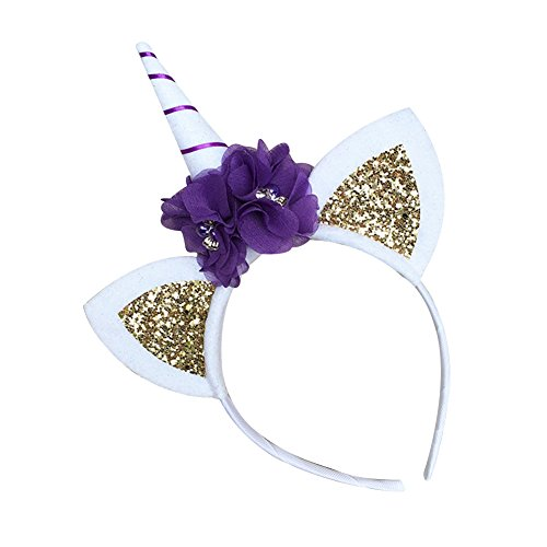 JasmineLi-Fascinator-Girls-Hair-Hoop-Flower-Glittering-Ears-Unicorn-Horn-Headband-Hair-Clasps-Accessories