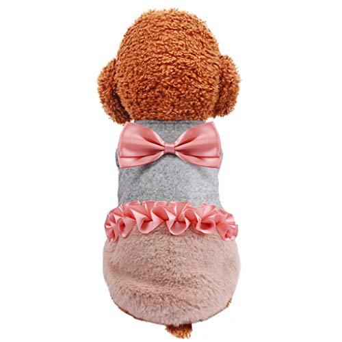 Hundebekleidung mit Bogen Hawkimin Hunde Kleid Pet Dog Dress Kleidung Elegante Prinzessin Tutu Queen Style für kleine, extra kleine Hund Teddy, Mops, Chihuahua, Shih Tzu, Yorkshire - Shih Tzu Im Teddy Kostüm