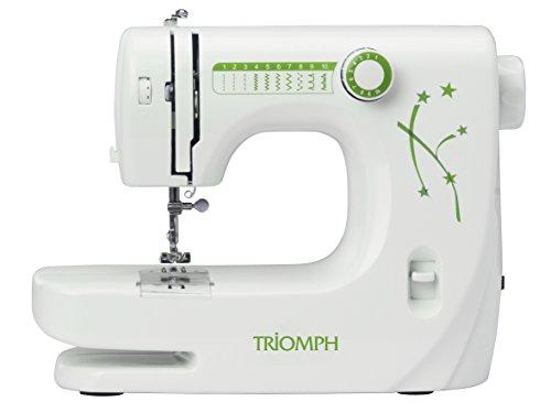 Triomph ETF1527 máquina de coser, 33,5 x 14,5 x 24 cm, blanco/verde