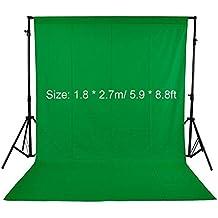 Andoer® Fondo Fotográfico Tela no Tejida Fotografía Estudio Vídeo 1.8 * 2.7m / 5.9 * 8.8ft Pantalla de Fondo (Verde)