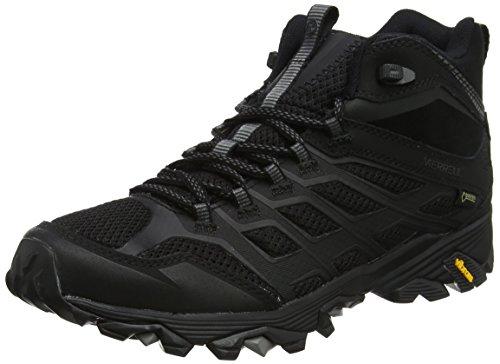 Merrell Moab Fst Mid Gore-tex, Chaussures de Randonnée Hautes Homme - Noir (All Black), 41 EU