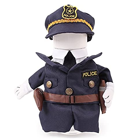 Aution House-Funny Pet Clothing - Police, Sailor, Cowboy Dogs Cat Costume Dress for Christmas, Birthdays, Weddings, Parades, Photo or play date- From Cat and Small Dog Clothes (M, Police)