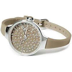 HOOPS Uhren Cherie Diamond Damen Uhrzeit Braun - 2483ld-08
