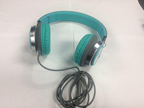 Kopfhörer, AILIHEN C8 Kopfhörer mit Mikrofon und Lautstärkeregler Faltbar Kopfhoerer On-Ear für iPhone Android Smartphones PC Laptop Mac Mp3/mp4 (Grau / Mint)