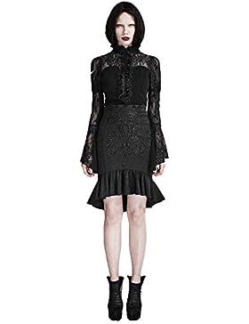 ?Falda de la falda de la falda del chaleco del palacio de la vendimia del estilo de las mujeres falda punky de...