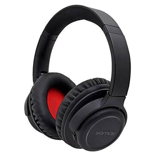 YAMAY Bluetooth Kopfhörer Over Ear,Kopfhörer Kabellos Noise Cancelling Kopfhörer Bluetooth 5.0 HiFi Stereo Drahtlose Headset mit Mikrofon Freisprechen 20 Stunden Spielzeit Tiefer Bass für Handy Pc TV