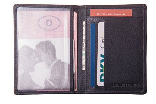 Anders , Porta carte di credito nero vera pelle.