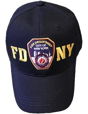 FDNY gorro de béisbol Policía insignia departamento de bomberos de la ciudad de Nueva York Azul Marino y dorado...