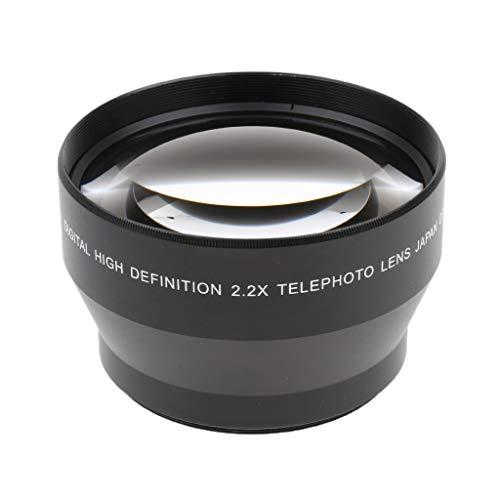 perfk Lente Telefoto de 67 mm Accesorios de Fotografía Cámaras para Sony JVC Olympus Canon