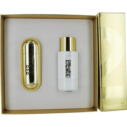Carolina Herrera 212 VIP Women Giftset Edp Spray and Body Lotion, 180 ml