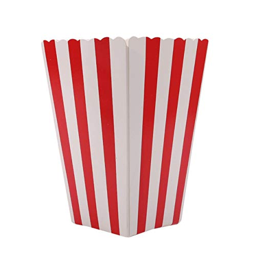Vektenxi Premium 12pcs Popcorn Boxen Taschen Halter Kino gestreiften Popcorn Boxen Karton Süßigkeiten Container für Party Snacks, Süßigkeiten, Popcorn und Pralinen (Einfach Karton Box Kostüm)