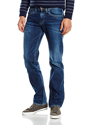 Pepe Jeans Herren Straight Leg Jeans Kingston Zip Blau (Dark Glory)