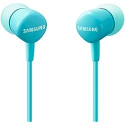 Samsung HS130 - Auriculares de botón (con micrófono, control remoto integrado), azul- Versión española