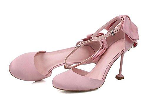 Ankle Strap Pump Charming Poinde-Toe D'Orsay Fliege Sandalen Persönlichkeit Ferse Damen Schuhe Pink Schwarz Pink