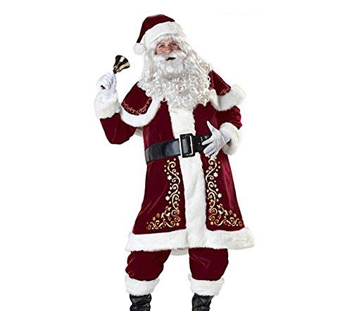 VersusModa Abito Costume Babbo Natale Cosplay Santa Claus Christmas Suit SANTC04 (XXL)