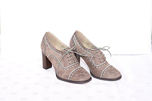 3-W-Hohenlimburg Superbequeme Mokassins Slippers Halbschuhe in Topmoderner Optik, Weiß, Braun oder Beige, Damenschuhe, MOK007, Schuh für Damen, ein Echter Hingucker-Schuh. Beige