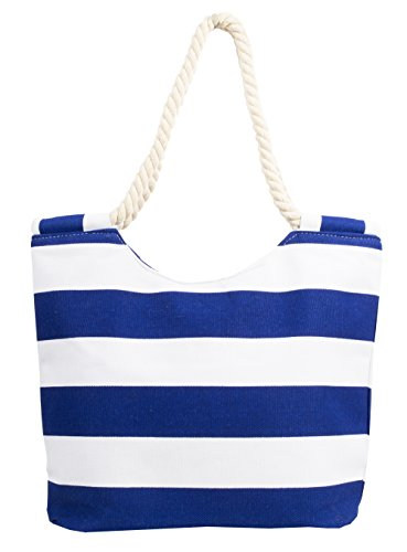 K.B. Barrow - Sacchetto donna Navy and White Stripe