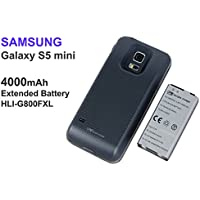 Samsung Galaxy S5 Mini LTE G800F - Mugen Power 4000mAh Extended Battery with Blue color cover (NFC Supported)
