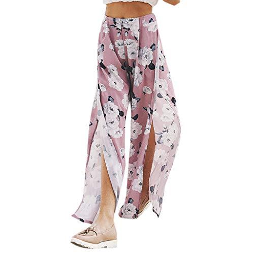 Damen Hose,Allegorly Damen Floral Bedruckt Beiläufige Große Größen Elegant Haremshose Palazzo Hose Hohe Taille Lockere Hosen mit Weitem Bein Yogahose Freizeithose -