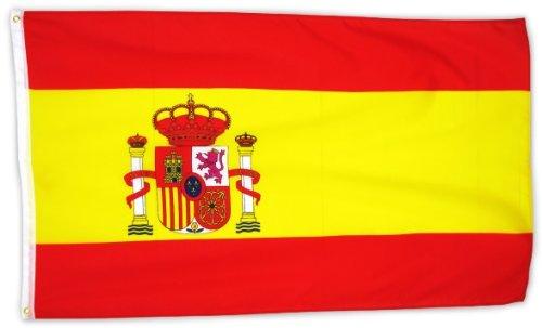 Foto de MM España Bandera/bandera, resistente a la intemperie, multicolor, 150x 90x 1cm, 16302