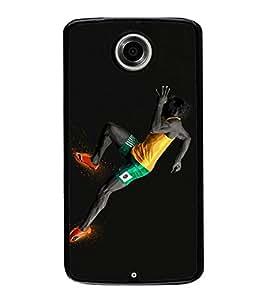 HiFi High Glossy Designer Phone Back Case Cover Motorola Nexus 6 :: Motorola Nexus X :: Motorola Moto X Pro :: Google Nexus 6 ( Fastest Running Man Like )