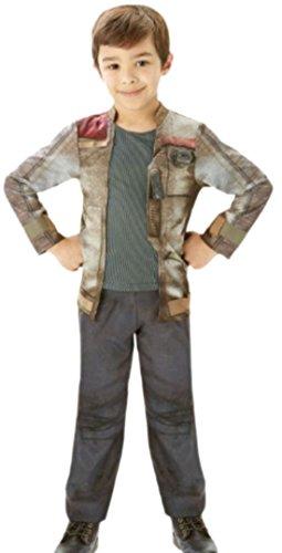 Fancy Ole - Jungen Boy Star Wars Finn Outfit Karneval Faschingskostüm, 158, (Hoffnung Neue Leia Kostüm Prinzessin Eine)
