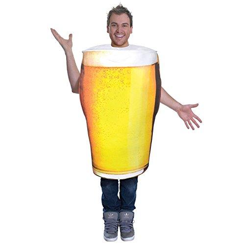 Männer Essen Kostüm - Bristol Novelty AC779 Bier Kostüm