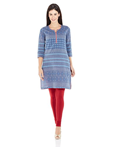 Rangriti Women's Cotton Straight Kurta