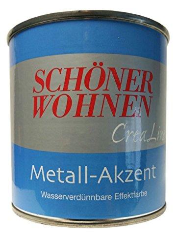 Schöner Wohnen Crealine Metall Akzent Effektfarbe Effekt Farbe Lack Farbton Bronze 375 ml -