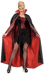 WIDMANN Générique Negro de los niños - rojo forrado de raso cabos de 158 cm de disfraces grandes 11-13 años (158 cm) para Super héroe del vestido de lujo
