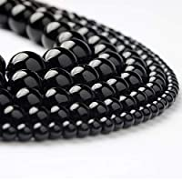 FDGBCF 4/6/8/10/12mm Black glass beads fashion Natural stone scattered beads DIY Bracelet necklace Accessories make,4mm93beads