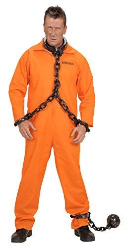 Widmann 5843M - Sträflingsoverall orange Guantanamo Sträfling, Größe (Häftling Kostüm Ideen)