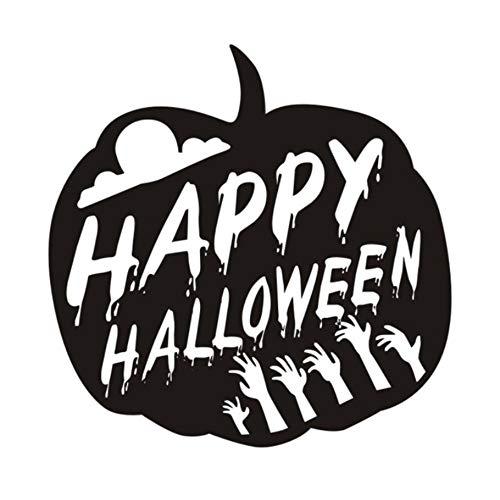 ppy Halloween Kürbis Für Kinderzimmer Halloween Dekoration Hallowmas Festival Wandaufkleber Shop Glaswanddekor 44X44Cm ()