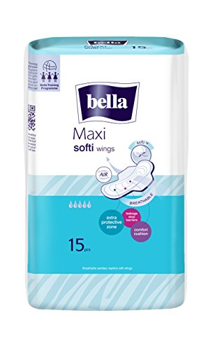 Bella Maxi Soft Wings Classic Sanitary Pads (15 Pieces)